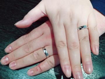 飯窪英隆様&恵美様 お2人色の特別な指輪に…