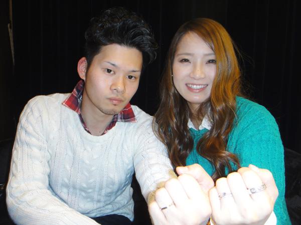 滝口健様&中村純子様「重ねて着けでピッタリ ゴージャス」