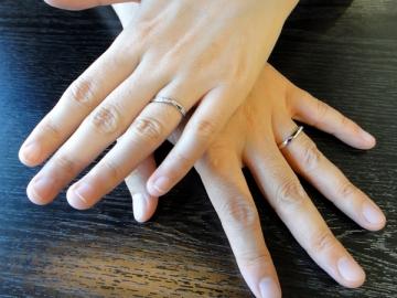 天野修&早紀様「リボンをモチーフにした可愛らしいリング」