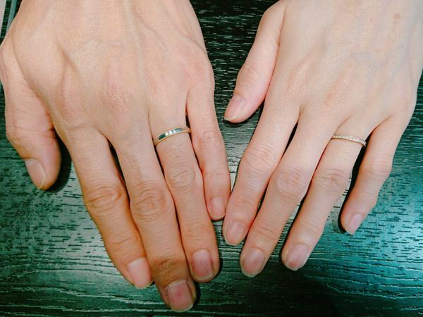 柳澤賢也様&由香様 やっと出会えた指輪に・・・
