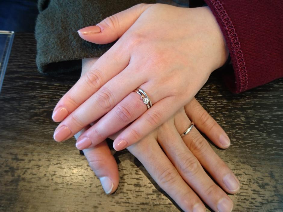 K様&T様 ふたり色の指輪