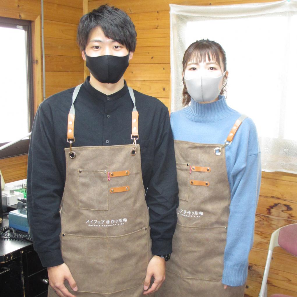手作り結婚指輪(マリッジリング)折井様 & 堀内様 の作品(No16)