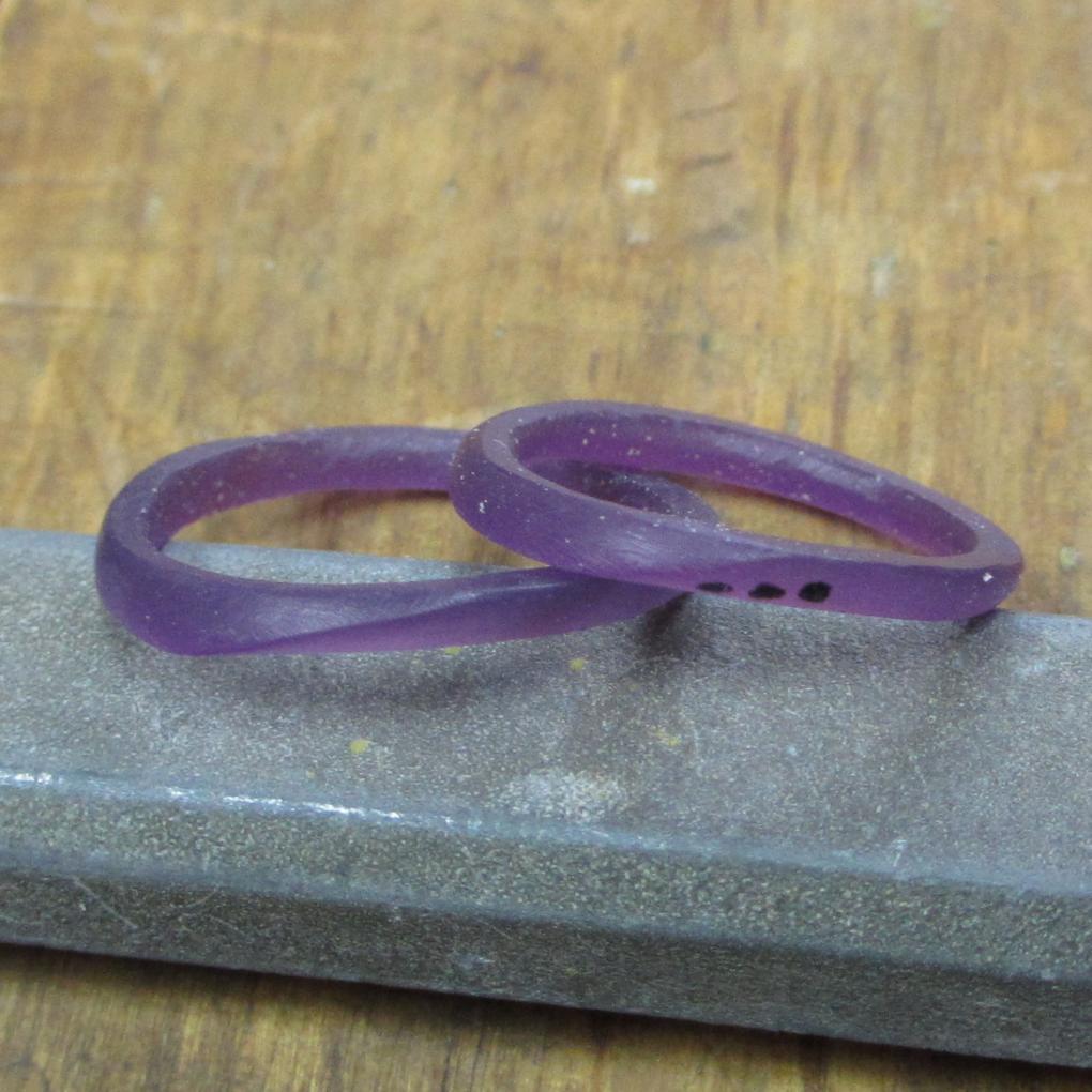 手作り指輪の完成ワックス写真